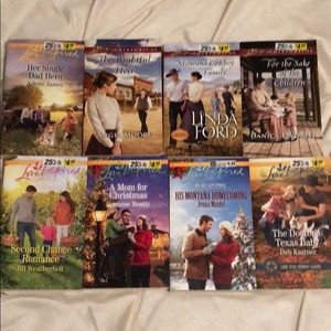 Lot of 8 Harlequin Love Inspired romance novels